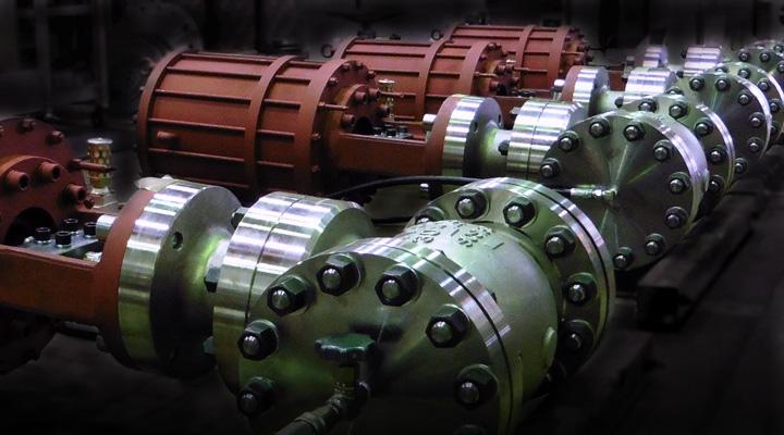 空気圧シリンダ(ピストンシリンダ)を駆動源とする弁の総称で、これまで5,000台以上の納入実績がある、当社の主力弁です。